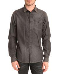 Diesel Shrob-D Grey Denim Shirt gray - Lyst