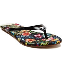 Dolce Vita Derika Manmade Leather Thong Sandals - Lyst