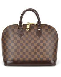 Louis Vuitton Pre-owned Damier Ebene Alma Mm - Lyst