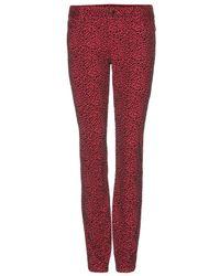 Alice + Olivia 5 Pocket Skinny Flocked Jeans - Lyst