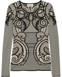 Temperley London Lavinia Lace-Intarsia Knitted Top - Lyst