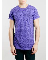 Topman Purple Shapes Motif T-Shirt - Lyst