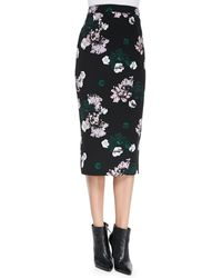 A.L.C. Midi Floral Pencil Skirt - Lyst
