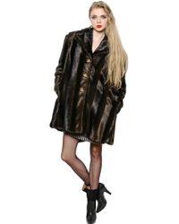 Vivienne Westwood Faux Mink Fur Coat - Lyst