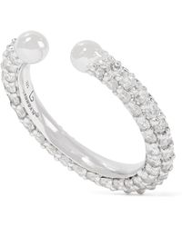 Lynn Ban - Orbital Sterling Silver Diamond Ear Cuff - Lyst