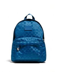 Coach Small Logo-Patterned Nylon Backpack blue - Lyst