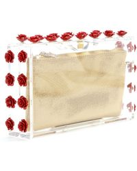 Charlotte Olympia Ring A Ring O Roses Embellished Clutch - Lyst
