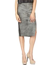 Stella & Jamie Erebus Leather Long Skirt - Lyst