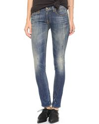 R13 Kate Painted Skinny Ankle Jeans  - Lyst