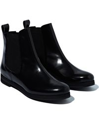 Sonia Rykiel Womens Glazed Calf Leather Low Boots - Lyst
