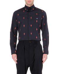 Vivienne Westwood Krall Crosshatch Diamond Stretch-Cotton Shirt - For Men - Lyst