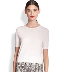 Tamara Mellon Cropped Cashmere Sweater - Lyst