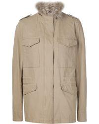 Yves Salomon - Fur-lined Army Jacket - Lyst