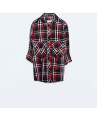 Zara Checked Shirt - Lyst