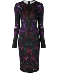 Alexander McQueen Multicolor Graphic Dress - Lyst