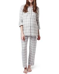 Topshop | Plaid Maternity Pajamas | Lyst