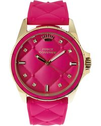 Juicy Couture 1901100 Gold-Tone & Pink Watch - Lyst