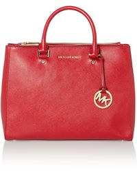 Michael Kors Jet Set Travel Red Double Zip Tote Bag - Lyst