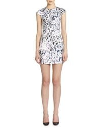 McQ by Alexander McQueen Spray Lace-print Dress - Lyst
