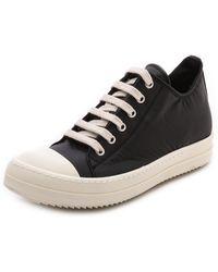 DRKSHDW by Rick Owens Low Top Ramones Sneakers Black - Lyst