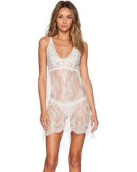 Hanky Panky Victoria Lace Chemise With G-String - Lyst