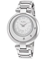 Thierry Mugler Women'S Silver-Tone Bracelet Silver-Tone Dial - Lyst