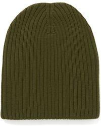 M Missoni - Ribbed Beanie Hat - Lyst