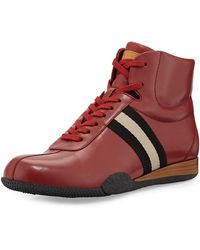 Bally Frendy Leather Hightop Sneaker - Lyst