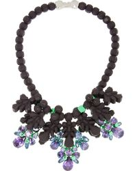 EK Thongprasert - Silverplated Silicone and Cubic Zirconia Necklace - Lyst