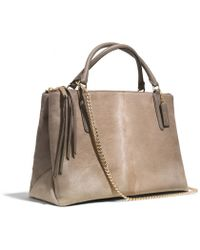 Coach The Borough Bag in Natural Haircalf - Lyst