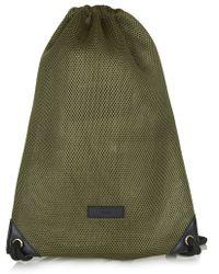 Topshop Mesh Drawstring Backpack - Lyst