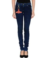 Vivienne Westwood Anglomania Denim Trousers - Lyst