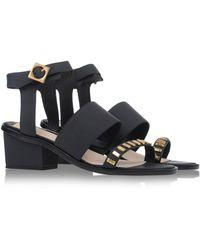 Kat Maconie Sandals black - Lyst