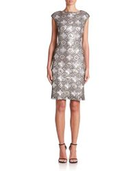 Sue Wong | Sequined Mosaic Sheath | Lyst