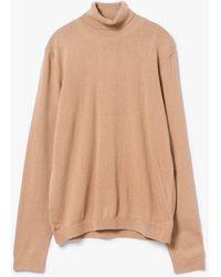 Topman   Camel Marl Roll Neck Sweater   Lyst