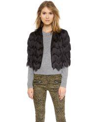 Milly Fringe Bolero Jacket - Lyst