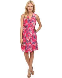 Rebecca Taylor Sleeveless Flowerpress Dress - Lyst