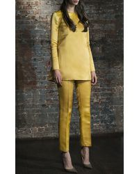 Katie Ermilio - Canary Yellow Pressed Crease Matchstick Pant - Lyst