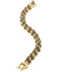 Eddie Borgo Gold-Plated Pave Crystal Cone Bracelet - Lyst