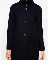 Sessun Chera Wool Coat With Funnel Neck - Lyst