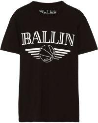Brian Lichtenberg - Ballin Cotton-jersey T-shirt - Lyst