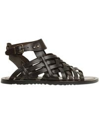 Pollini By Nicholas Kirkwood Woven Leather Gladiator Sandals - Lyst