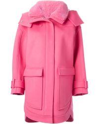 Emilio Pucci - Fur Collar Hooded Coat - Lyst