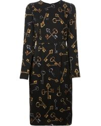 Dolce & Gabbana Key Print Dress - Lyst