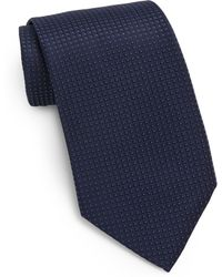 Saint Laurent Spotted Embroidered Silk Tie - Lyst