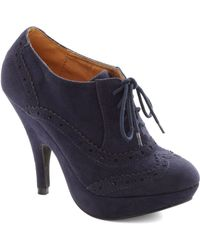 ModCloth Mighty Marvelous Heel blue - Lyst