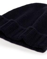 Incotex - Cashmere Rib Knit Beanie - Lyst