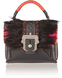 Paula Cademartori - Dun Dun Mini Feather-Embellished Shoulder Bag - Lyst