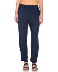 Velvet By Graham & Spencer | Sloe Damask Rayon Skinny Pant | Lyst