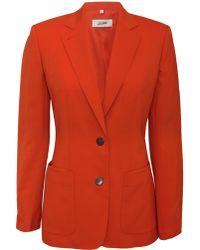 Jean Paul Gaultier Open Sleeve Blazer Orange - Lyst